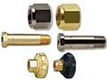 CGA 320 Regulator Inlet Nuts   Nipples for Carbon Dioxide